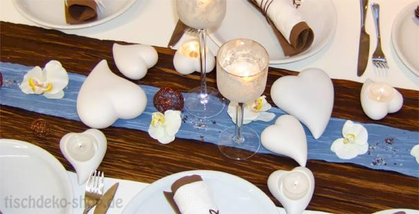 Tischdeko In Blau Hochzeitsdeko Even Tipp Picture Pictures to pin on ...