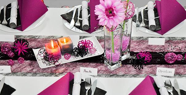 Tischdeko Hochzeit In Pink Grün Pictures to pin on Pinterest