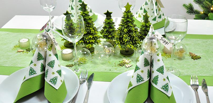 weihnachtliche tischdekoration oh tannenbaum. Black Bedroom Furniture Sets. Home Design Ideas