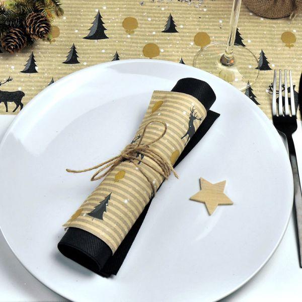 Serviette Deer Forest 33x33cm 20er Pack Weihnachten bei Tischdeko-Shop.de