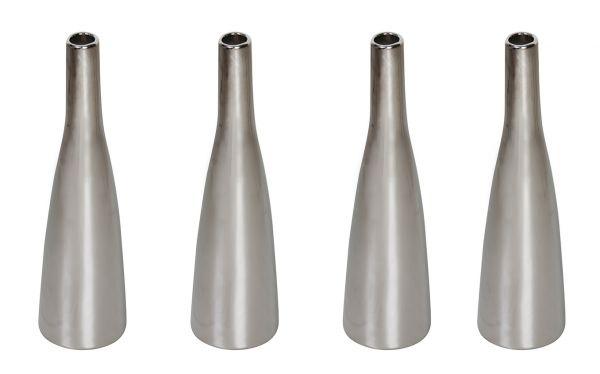 Keramik Vase Planico Silber 4er Set H20,5cm bei Tischdeko-Shop.de