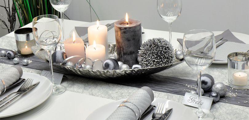 Tischdekoration In Der Farbe Silber Kaufen
