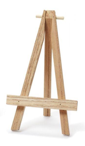 Staffelei 13x7cm Holz natur bei Tischdeko-Shop.de