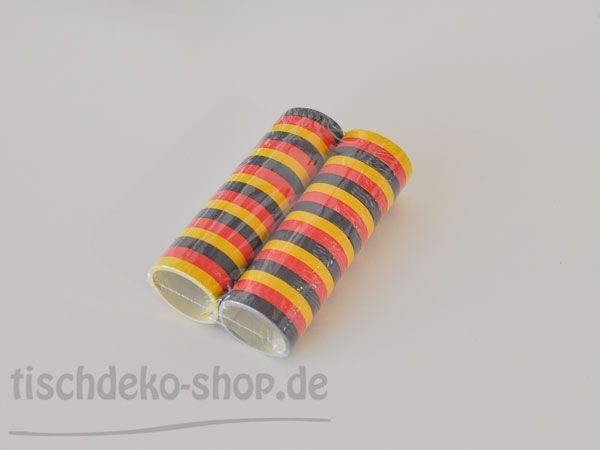 Luftschlangen Schwarz/Rot/Gold Rolle 6x L4m bei Tischdeko-Shop.de