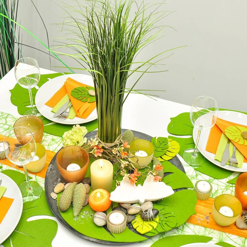 tischdeko ideen fuer den sommer, tischdekoration sommer in grün orange kaufen | tischdeko-shop, Design ideen