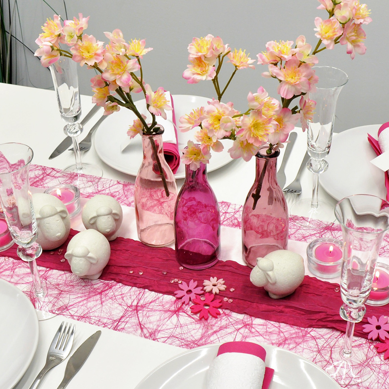 tischdekoration in pink mit schafen kaufen tischdeko shop. Black Bedroom Furniture Sets. Home Design Ideas