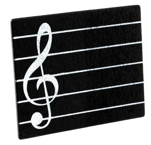Namenskärtchen Noten / Musik 6x7,5 cm 2er Set