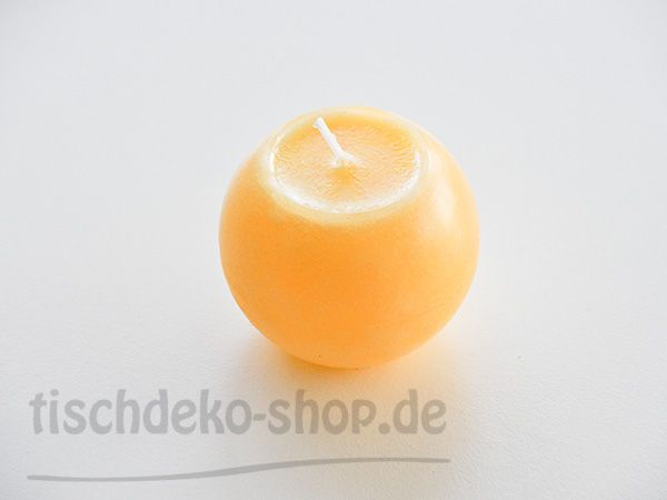 Kugel-Kerze Gelb SafeCandle