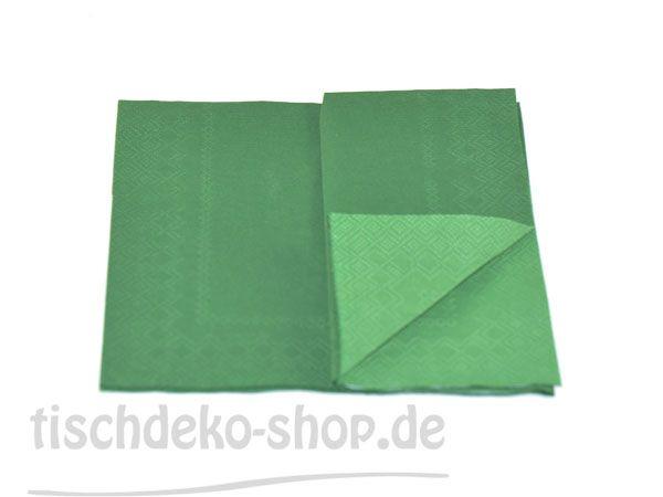 Serviette DOUBLO dark green 33x33cm 20er Pack