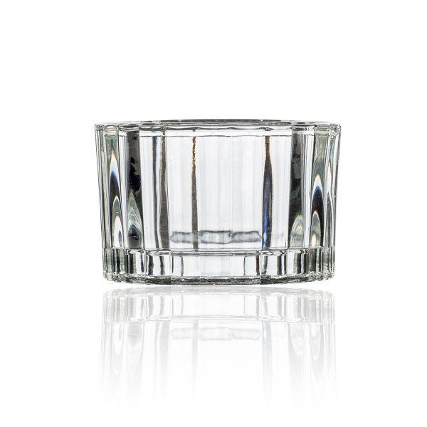 Teelichthalter Glas H3,6 D 5,6cm 12er Set bei Tischdeko-Shop.de