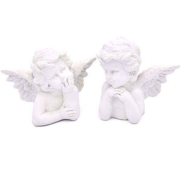 Engel-Putten Engelfiguren in Weiß 2er Set H ca. 12cm bei Tischdeko-Shop.de