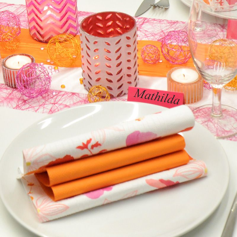 Tischdekoration In Pink Orange Kaufen Tischdeko Shop