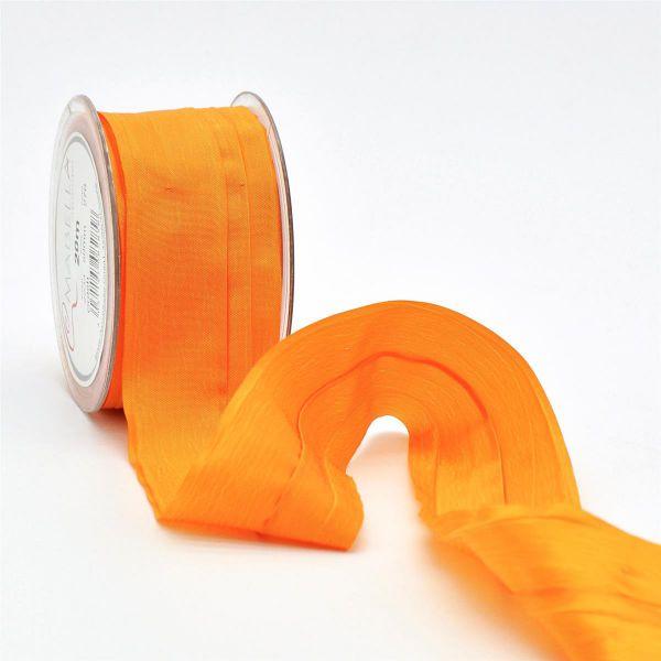Crash-Taft-Band Orange 5cm Breit 20 Meter Vorteilsrolle