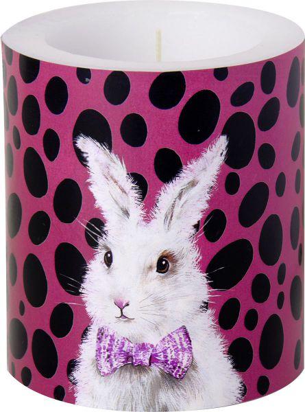 Motiv-Kerze Bad Hair Bunny Fuchsia bei Tischdeko-Shop.de