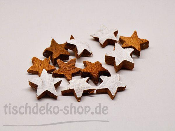 Kokos-Sterne weiß Ø ca.5cm ca. 20 Stück bei Tischdeko-Shop.de