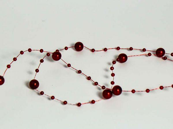 Perlenband Bordeaux D6mm 15m-Vorteilsrolle
