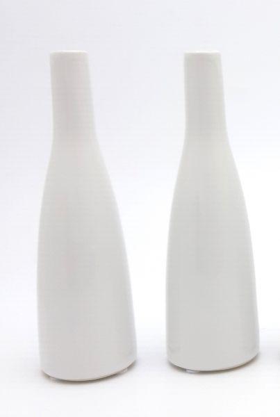 Vase Planico Weiß 2er Set H27cm bei Tischdeko-Shop.de