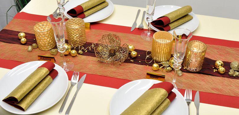 Tischdekorationen In Gold Fur Festliche Anlasse Entdecken