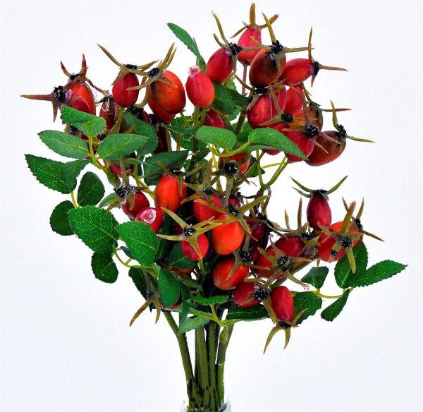 Hagebutten Zweige Rot Orange 6er Set bei Tischdeko-Shop.de