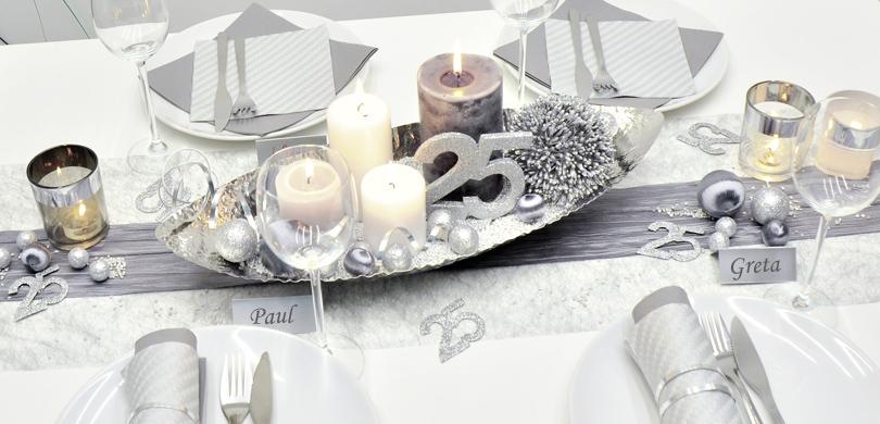 Tischdekoration in silbertraum kaufen tischdeko shop - Tischdekoration silberhochzeit bilder ...