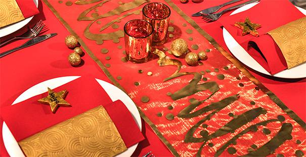 Tischdekoration In Rot Gold Kaufen Tischdeko Shop