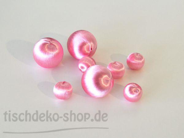 Streudeko-Set Deko-Kugeln Seidengarn Rosa 8-teilig bei Tischdeko-Shop.de