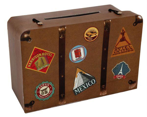 Briefbox Geldbox Geschenkbox Reisekoffer 24x16x10cm bei Tischdeko-Shop.de