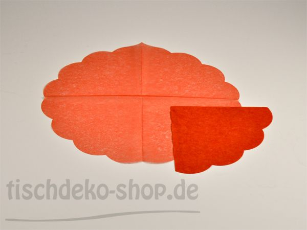 Japan-Serviette Rot Ø 34 cm 15er Pack