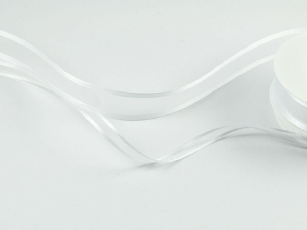 Transparentes Band Weiß 25m-Vorteilsrolle bei Tischdeko-Shop.de