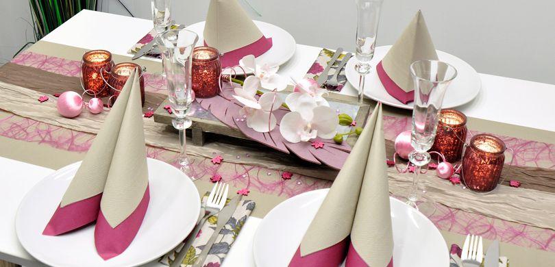 Tischdekoration In Der Farbe Rosa Kaufen