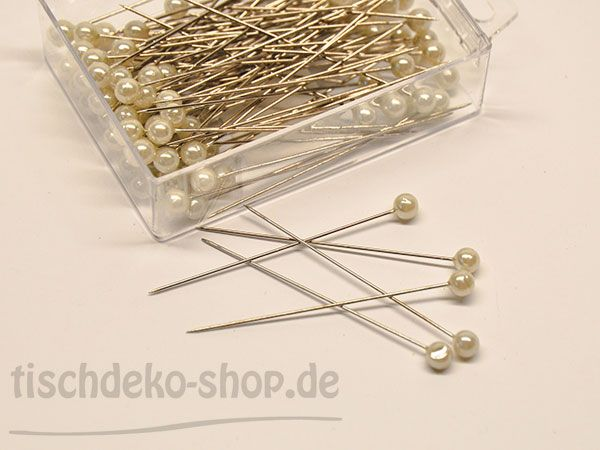 Deko-Nadel mit Perle champagne Ø 6mm