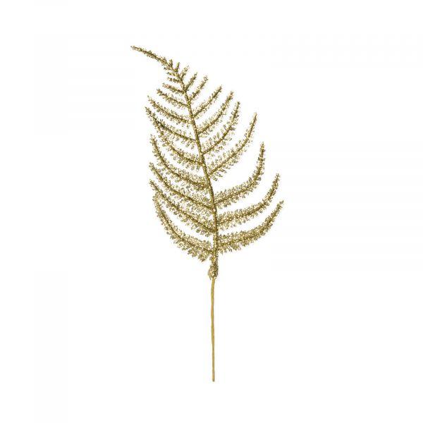 Deko-Farnblätter Gold-Glitter 8x22,5 cm bei Tischdeko-Shop.de