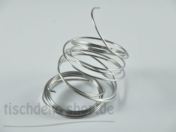 Basteldraht Aludraht Silber 2mm 3-Meter-Ring