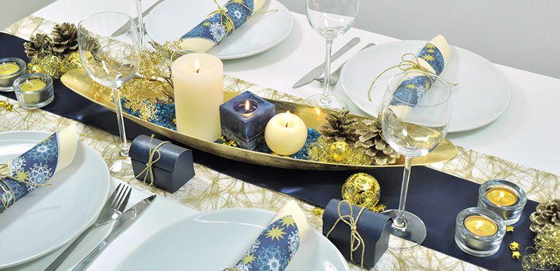 Weihnachten Gold Blau