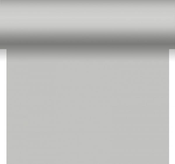 3-in-1 Tischläufer Tete a Tete Silber Dunisilk 0.40 x 4,80m bei Tischdeko-Shop.de