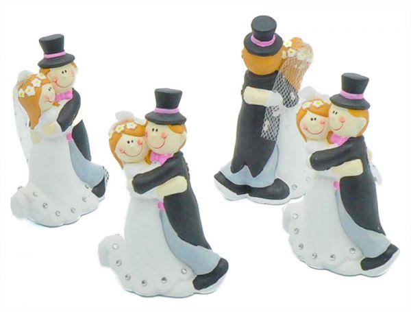 Hochzeitspaar Lovely 12cm 4er Pack bei Tischdeko-Shop.de