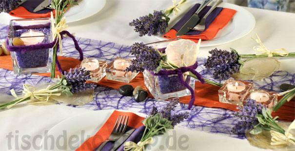 Orange / Lila online kaufen - Tischdeko-Shop.de