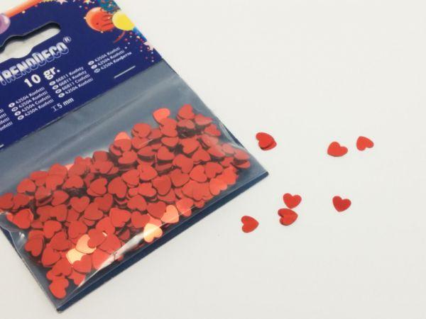 Konfetti Herz Rot 10gr. Beutel H6mm