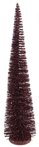 Deko-Tannenbaum Stickie Aubergine Glitter 40cm bei Tischdeko-Shop.de
