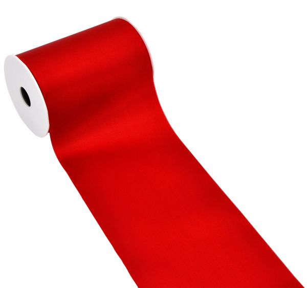 Satinband Tischband Rot 15cm breit bei Tischdeko-Shop.de