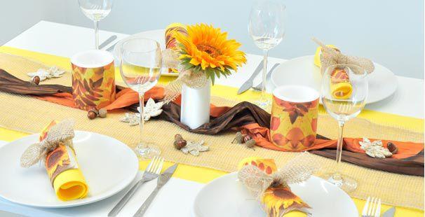 Tischdekoration Sonnenblume Kaufen Tischdeko Shop
