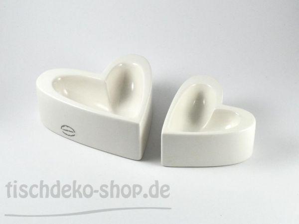 Herz-Schale Porzellan weiß 14,5x13x5,5cm