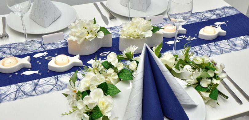 Tischdekoration In Blau Online Kaufen Tischdeko Shop