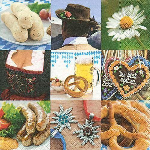 Serviette Oktoberfest 33x33cm 20er Pack