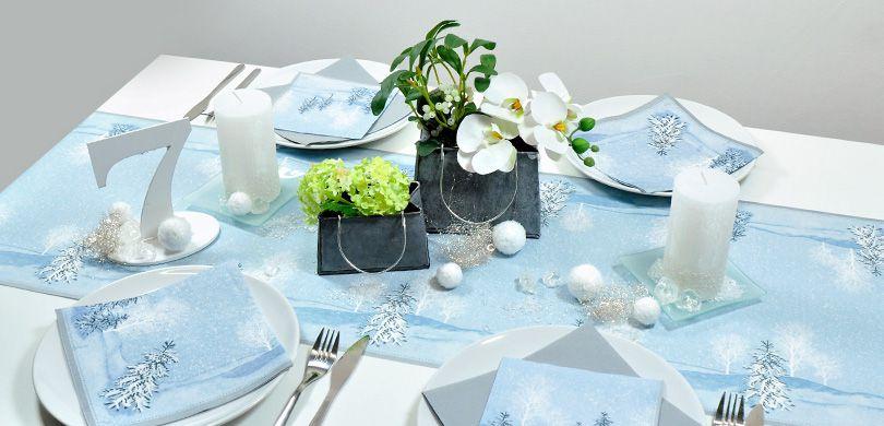 Winterlich Weihnachtliche Tischdeko Winter Mornings