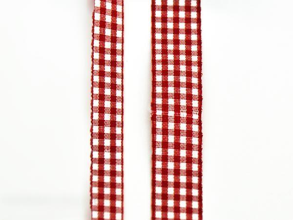 Dekoband Basteln Bänder Rot mit weißen Herzen 0,63€//m Dekorieren