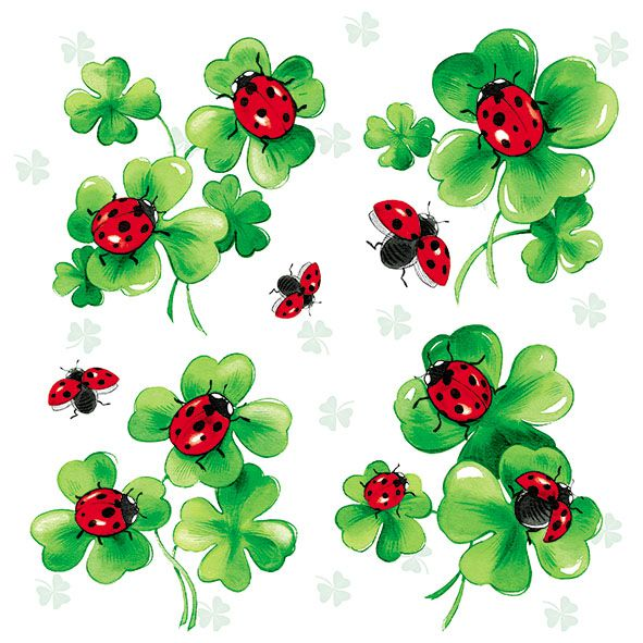 Serviette Lots of Luck 33x33cm 20er Pack bei Tischdeko-Shop.de