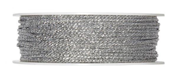 Kordel Silber D 2mm 50 Meter Vorteilsrolle bei Tischdeko-Shop.de