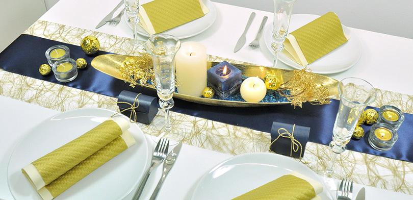 tischdekoration hochzeit gold blau. Black Bedroom Furniture Sets. Home Design Ideas