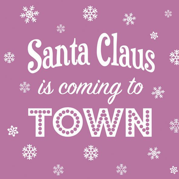 Serviette Santa is Coming Lilac 33x33cm 20er Pack